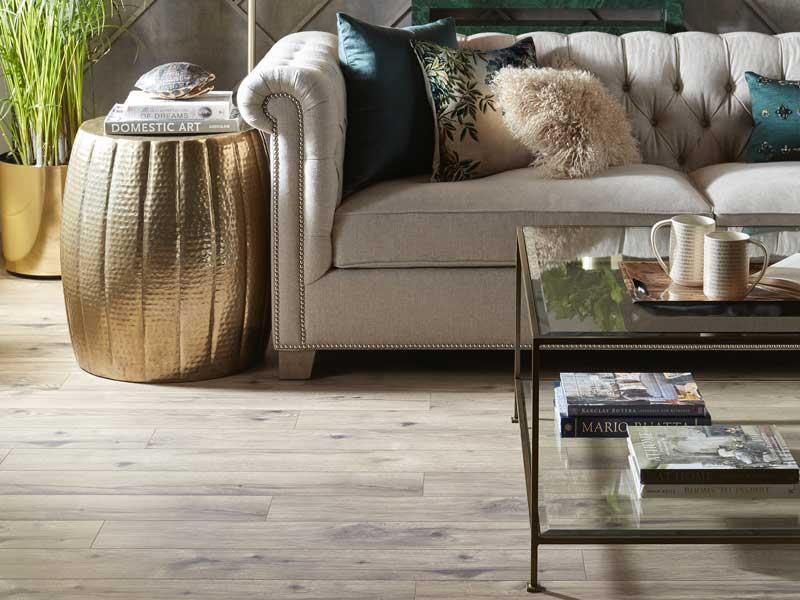 rustic, distressed hardwood flooring